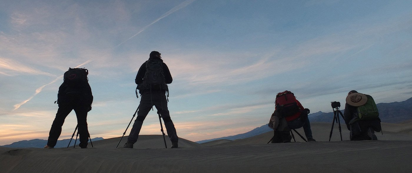 With my participants in Death Valley