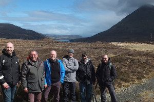 With my participants on the Isle of Skye